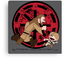 Lets Be Jedi (Qui Gon & Anakin EP1) Canvas Print