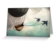 Around the world in a teacup Greeting Card