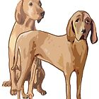 Redbone Coonhounds by IowaArtist