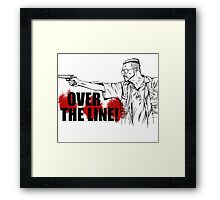 Over The Line! Framed Print