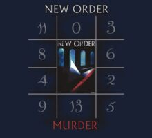 "New Order ""Murder"" Shirt Design by Shaina Karasik"