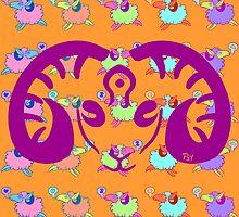 Blotter art 3- Sheepy by psychonautic