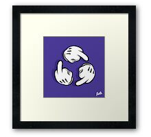 Circle Fuck Hands Framed Print