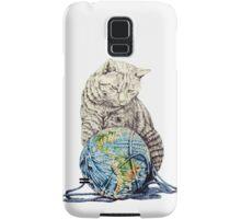 Our feline deity shows restraint Samsung Galaxy Case/Skin