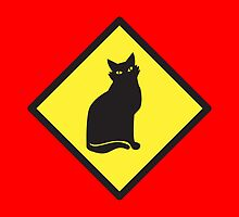 BEWARE cat sign by jazzydevil