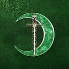 Green Celtic Moon by Packrat