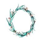 Gumleaf Wreath on White by ThistleandFox