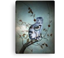 The Blue Cat Canvas Print