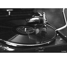 That old time music BW Photographic Print