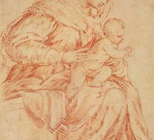 Enthroned Madonna and Child by Bridgeman Art Library
