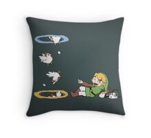 Thinking With Chickens Throw Pillow
