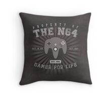 Property of N64 Throw Pillow