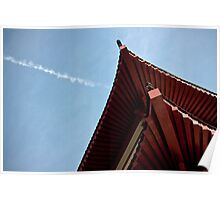 red chinese roof Poster