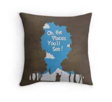Oh, The Places You'll See Throw Pillow