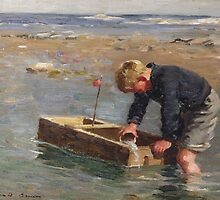 Bailing Out the Boat by Bridgeman Art Library