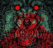 Werewolf shape phone case by WOLFSKULLJACK