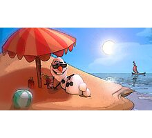 Olaf at the sea Photographic Print