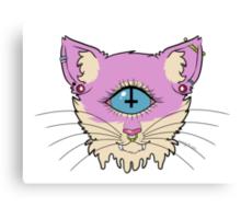 cyclops cat Canvas Print