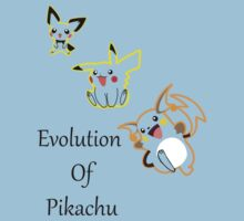 Evolution of pikachu by emilyap