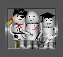 Cute Robot Trio -   Robo-x9  by Gravityx9