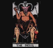 Tarot - The Devil (black tee only) by Beau Tobler