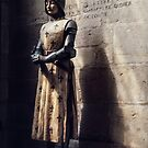 Copy of St Joan of Arc St Michaels Cathedral Dijon France 19840501003 by Fred Mitchell