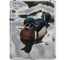 Wood Duck on Silver iPad Case/Skin