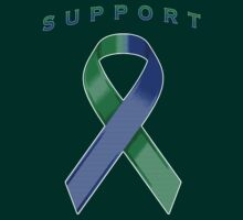 Green & Blue Awareness Ribbon of Support by adamcampen