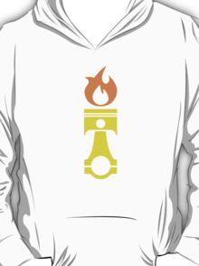 Flaming Piston (fire) T-Shirt