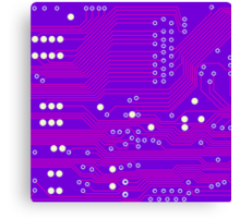 Pink Circuit Board Canvas Print