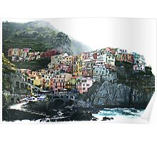 One of the villages of the Cinque Terre, Italia Poster