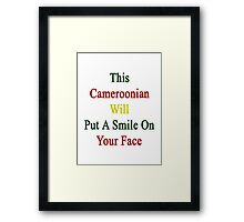 This Cameroonian Will Put A Smile On Your Face Framed Print