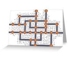 Subway map Greeting Card