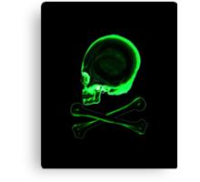 Pirate skull & crossbones in black Canvas Print