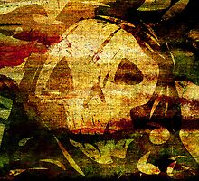 Death - Artwork with Stained Canvas Texture by Denis Marsili