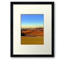 Picturesque panorama of countryside life | landscape photography Framed Print