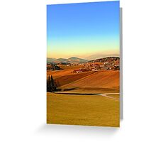 Picturesque panorama of countryside life | landscape photography Greeting Card