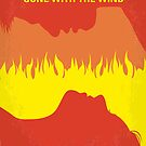 No299 My Gone With the Wind minimal movie poster by Chungkong