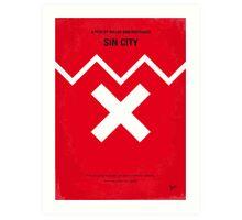 No304 My SIN CITY minimal movie poster Art Print