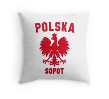 POLSKA SOPOT Throw Pillow