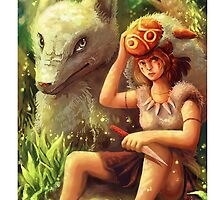 princess mononoke ghibli phone case  by michelledraws