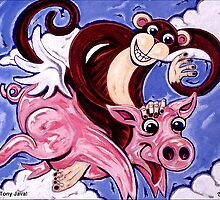 'Flying Pig Monkey' by Jerry Kirk