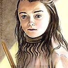 Maisie Williams miniature by wu-wei