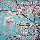 blossoms all over ~ teal by Iris Lehnhardt