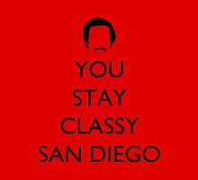 You stay classy San Diego Pillow 2 by supalurve
