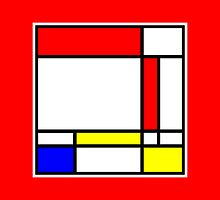 Mondrian Block Colour Collection No.2 by Ged J