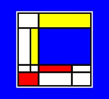 Mondrian Block Colour Collection No.3 by Ged J