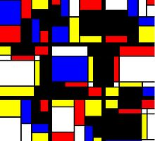 Mondrian Block Colour Collection No.8 by Ged J