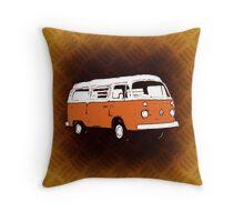 New Bay Campervan Orange Throw Pillow