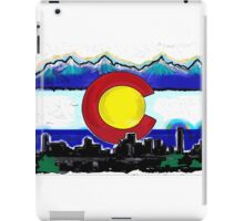 Artistic Denver Colorado skyline design iPad Case/Skin